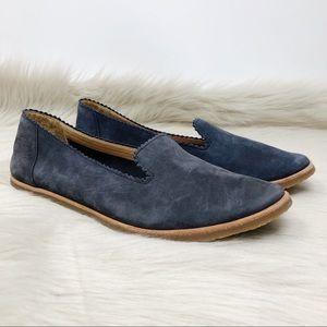 NWT Ugg Vista Nubuck Leather Blue Flats Sz 7